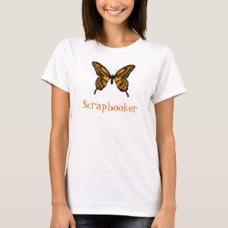 T-shirt Papillon de monarque orange et noir, Scrapbooker