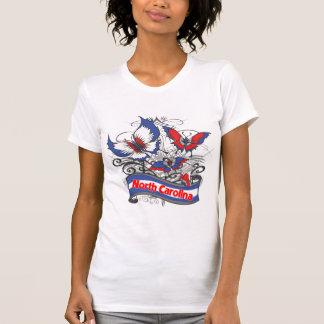 T-shirt Papillon de patriotisme de la Caroline du Nord