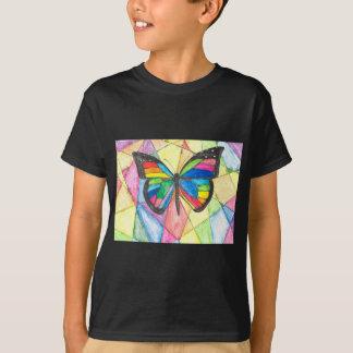 T-shirt Papillon en verre souillé