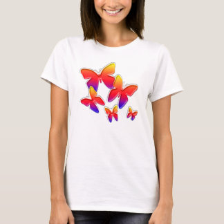 T-shirt Papillons d'arc-en-ciel