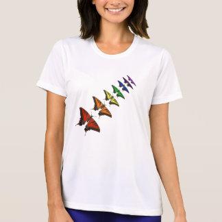 T-shirt Papillons de Chakra d'arc-en-ciel