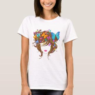 T-shirt Papillons et fleurs
