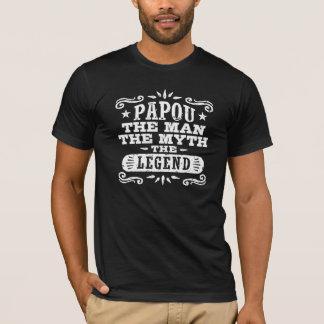 T-shirt Papou l'homme le mythe la légende