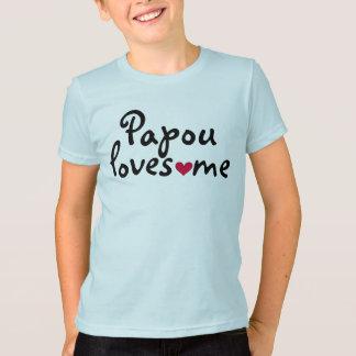T-shirt Papou m'aime chemise