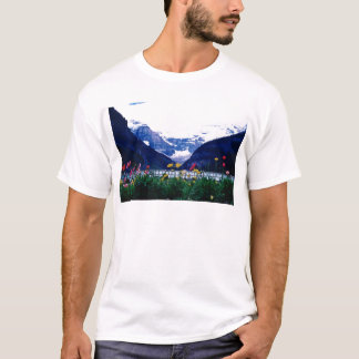 T-shirt Parc national blanc de Banff, fleurs de Lake