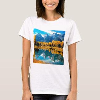 T-shirt Parc national grand de Teton d'automne de l'eau