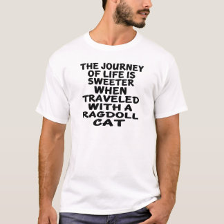 T-shirt Parcouru avec le chat de Ragdoll