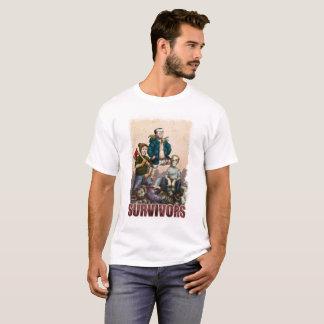T-shirt paresseux de survivants de zombi de