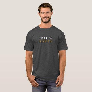 T-shirt paresseux d'étoile de Hollywood cinq