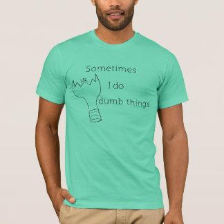 T-shirt Parfois je fais des choses muettes