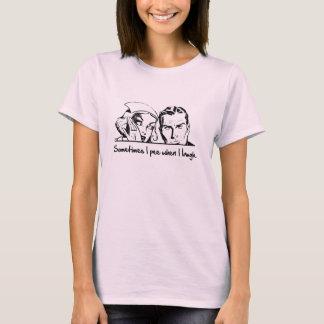 T-shirt Parfois je fais pipi quand je ris