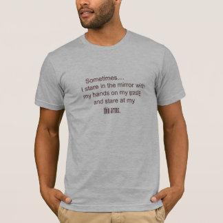 T-shirt parfois je regarde fixement dans le miroir avec