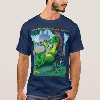 T-shirt Parfois le dragon gagne le vert