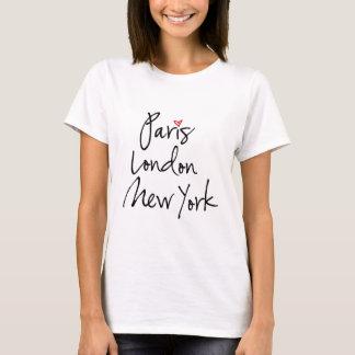 T-shirt Paris, Londres, New York