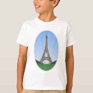 T-shirt Paris : Tour Eiffel : Dessin de vecteur :