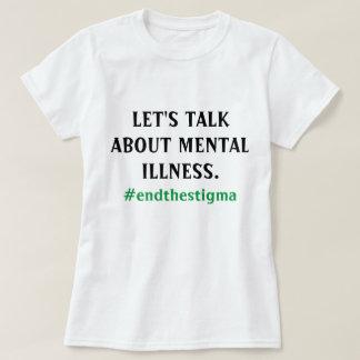 T-shirt Parlons de la pièce en t de maladie mentale
