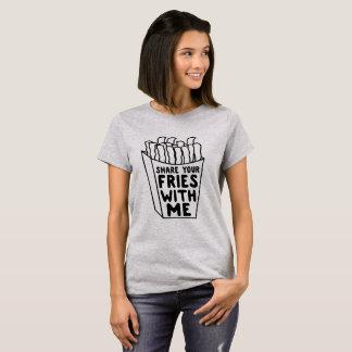 T-shirt Partagez vos fritures avec moi
