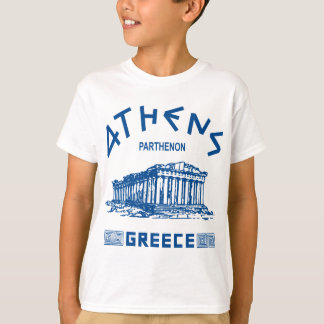 T-shirt Parthenon - Athènes - Grec (bleu)