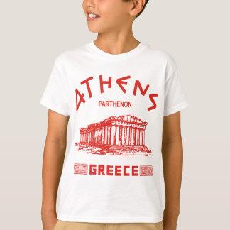 T-shirt Parthenon - Athènes - Grec (rouge)