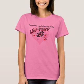 T-shirt Partie rose de coeur de Las Vegas