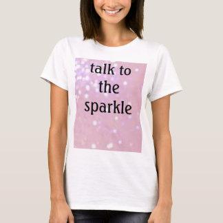 T-shirt parties scintillantes rose-clair, entretien à