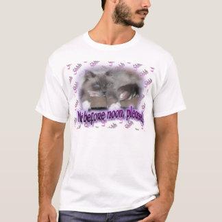 T-shirt Pas avant midi (dans le pourpre)