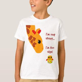 T-shirt pas short im, im taille d'amusement