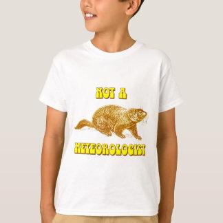 T-shirt Pas un météorologiste Groundhog