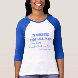 T-shirt Passionés du football du Tennessee, contre vent et