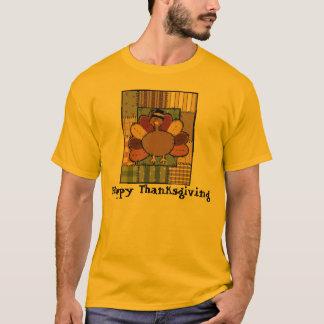 T-shirt Patchwork Turquie de thanksgiving