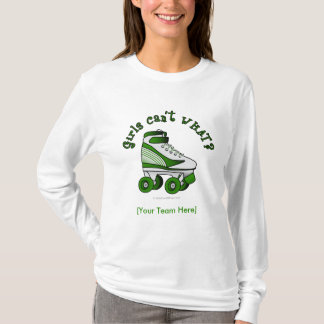 T-shirt Patin de Derby de rouleau - vert