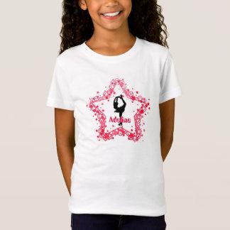 T-Shirt Patinage artistique superbe de glace de fille
