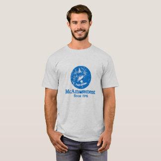 T-shirt patiné de mâle de logo de McAmusement