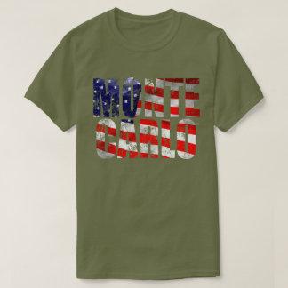 T-shirt patiné du vert M de fatigue de Monte Carlo