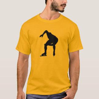 T-shirt Patineur jaune-orange de vitesse