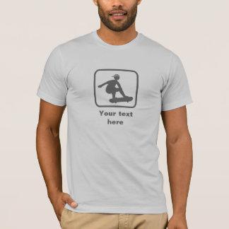 T-shirt Patineur -- Logo gris -- Personnalisable
