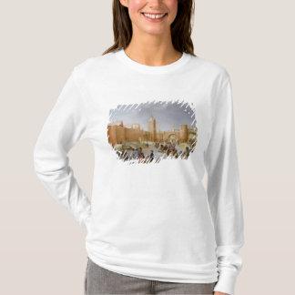 T-shirt Patineurs et joueurs de Kolf en dehors de ville de