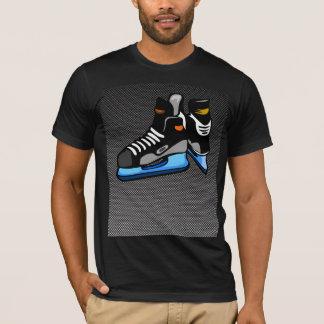 T-shirt Patins d'hockey de fibre de carbone de Faux