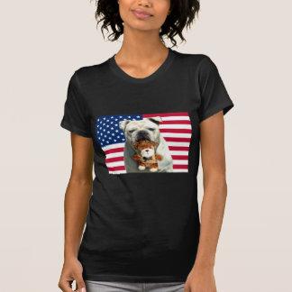 T-shirt patriotique de bouledogue