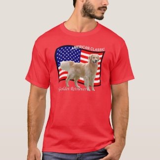T-shirt patriotique de golden retriever