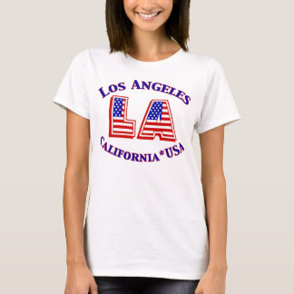 T-shirt patriotique de logo de Los Angeles