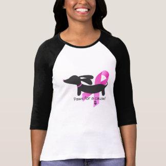 T-shirt Pattes pour un teckel du cancer du sein | de la