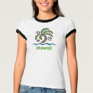 T-shirt Paume de balancement d'Hawaï