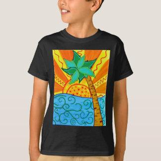 T-shirt Paume de coucher du soleil
