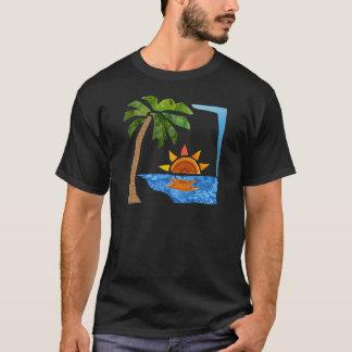 T-shirt Paume, Sun et mer