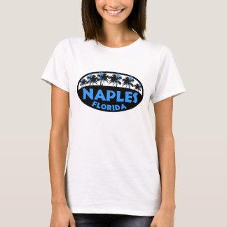 T-shirt Paumes bleues noires de Naples la Floride