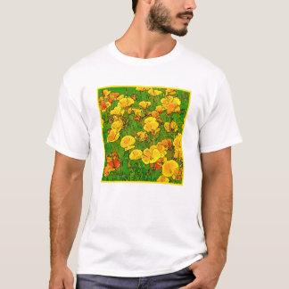 T-shirt Pavots de Californie oranges 2.2.2.y