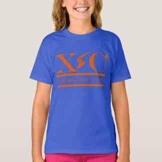 T-shirt Pays croisé courant la chemise orange de