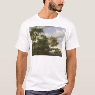 T-shirt Paysage boisé de rivière