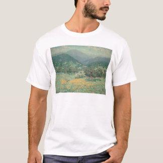 T-shirt Paysage de la Californie avec les pavots (1213)